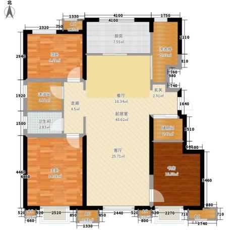 万科金域华府3室0厅1卫1厨115.00㎡户型图