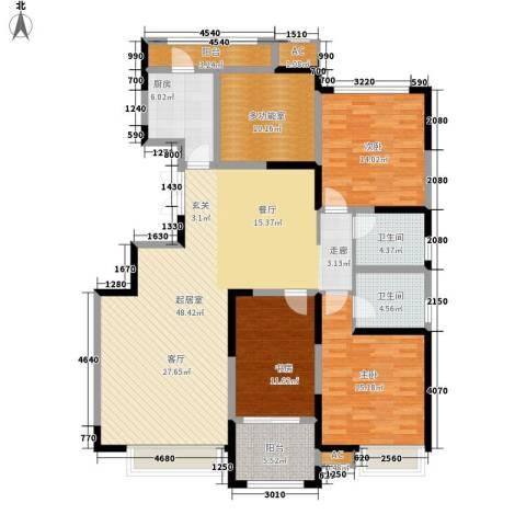 万科金域华府3室0厅2卫1厨140.00㎡户型图