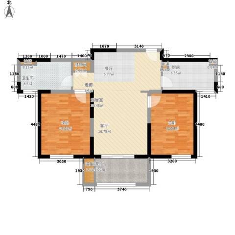 中星馨恒苑2室0厅1卫1厨91.00㎡户型图