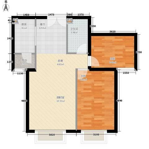 青青佳苑2室0厅1卫1厨61.00㎡户型图