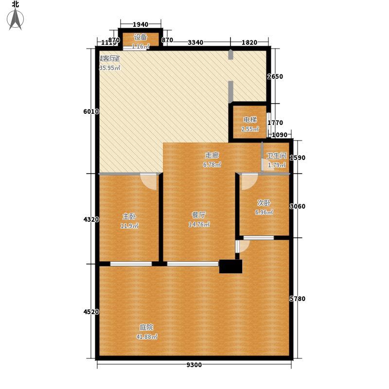 华发岭南荟135.00㎡A1负一层户型3室2厅