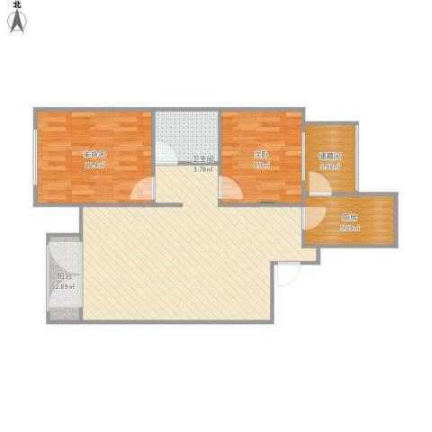 泰安盛世郡1室1厅1卫1厨72.55㎡户型图
