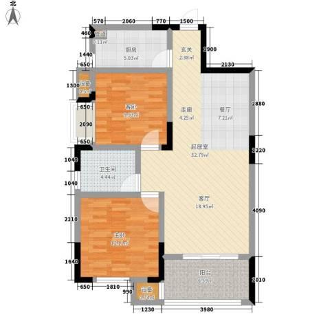 五矿龙湾国际社区2室0厅1卫1厨88.00㎡户型图