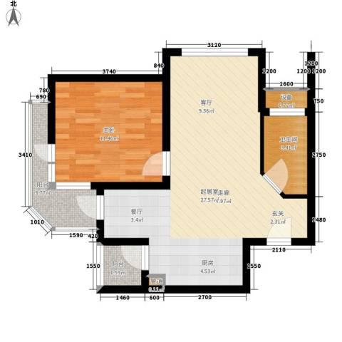 那香海国际旅游度假区1室0厅1卫0厨57.00㎡户型图
