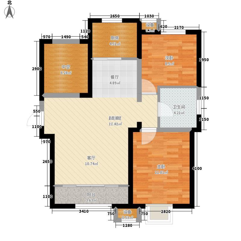 首创暖山101.00㎡高层标砖层A01户型2室2厅