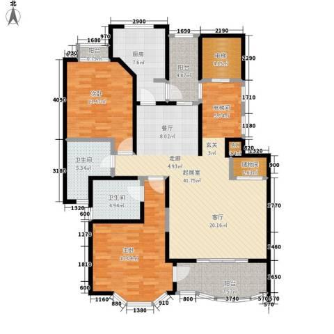 强生古北花园2室0厅2卫1厨125.00㎡户型图