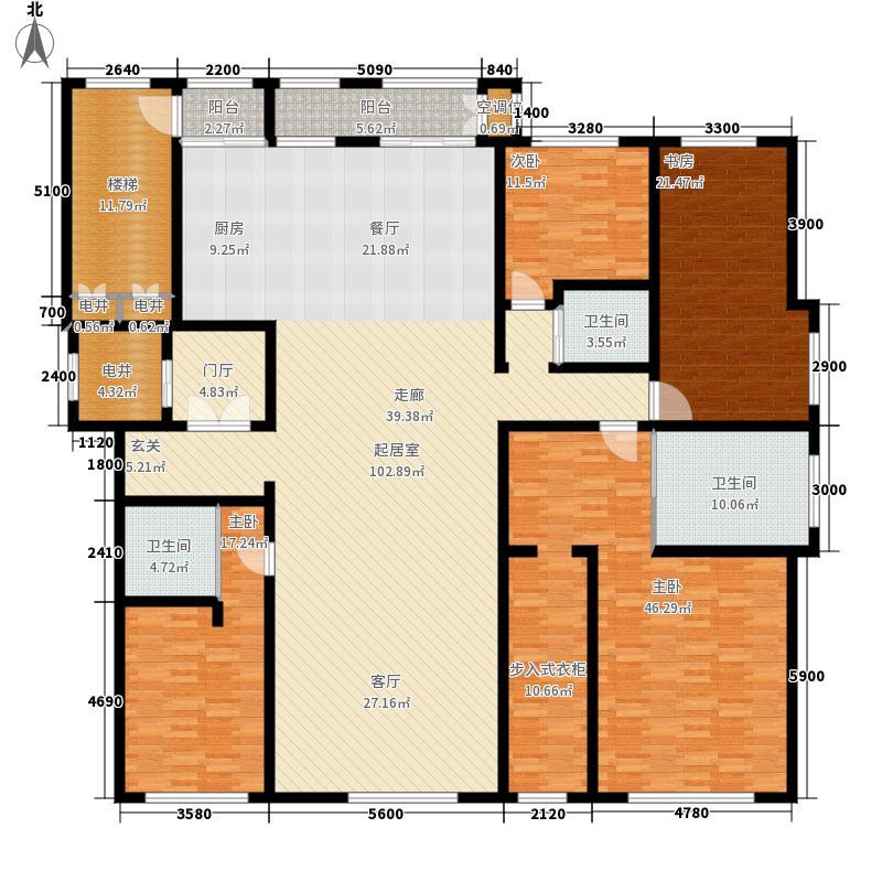 龙首壹号院270.00㎡B户型4室2厅