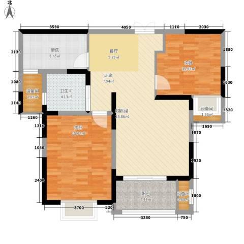 中星馨恒苑2室0厅1卫1厨87.00㎡户型图
