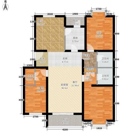 华宇花园3室0厅2卫1厨154.00㎡户型图