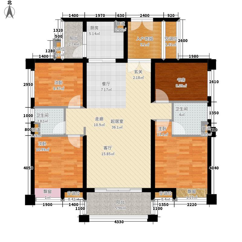珑翠135.00㎡长隆10栋01户型4室2厅