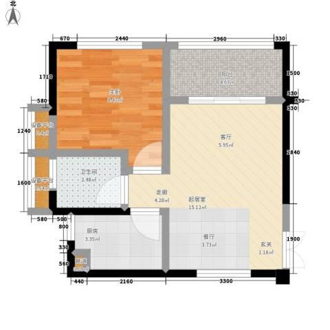 水安盛世桃源1室0厅1卫1厨47.00㎡户型图
