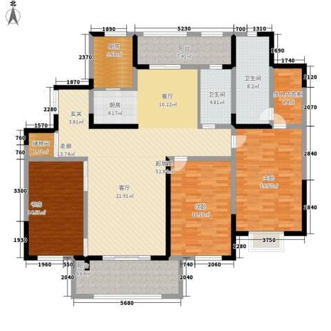中星馨恒苑3室0厅2卫1厨165.00㎡户型图