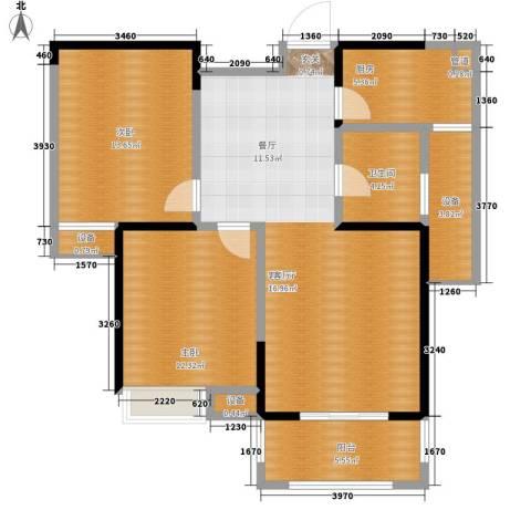 禹洲翡翠湖郡2室1厅1卫1厨86.00㎡户型图