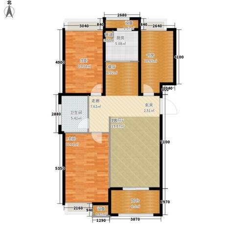 禹洲翡翠湖郡3室1厅1卫1厨108.00㎡户型图