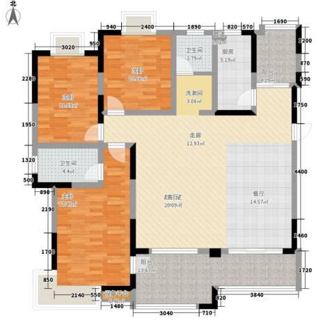 众发世纪城3室0厅2卫1厨138.00㎡户型图