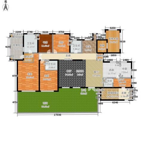 西山华府4室0厅4卫0厨487.00㎡户型图