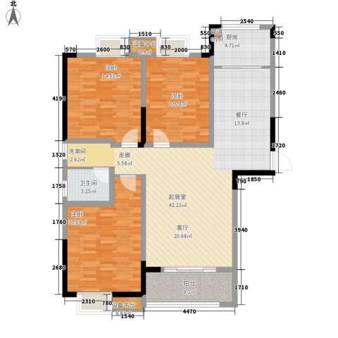 众发世纪城3室0厅1卫1厨118.00㎡户型图