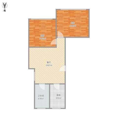 绿地新干线2室1厅1卫1厨92.00㎡户型图
