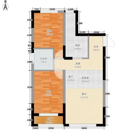 青旅福润家园2室0厅1卫1厨92.00㎡户型图