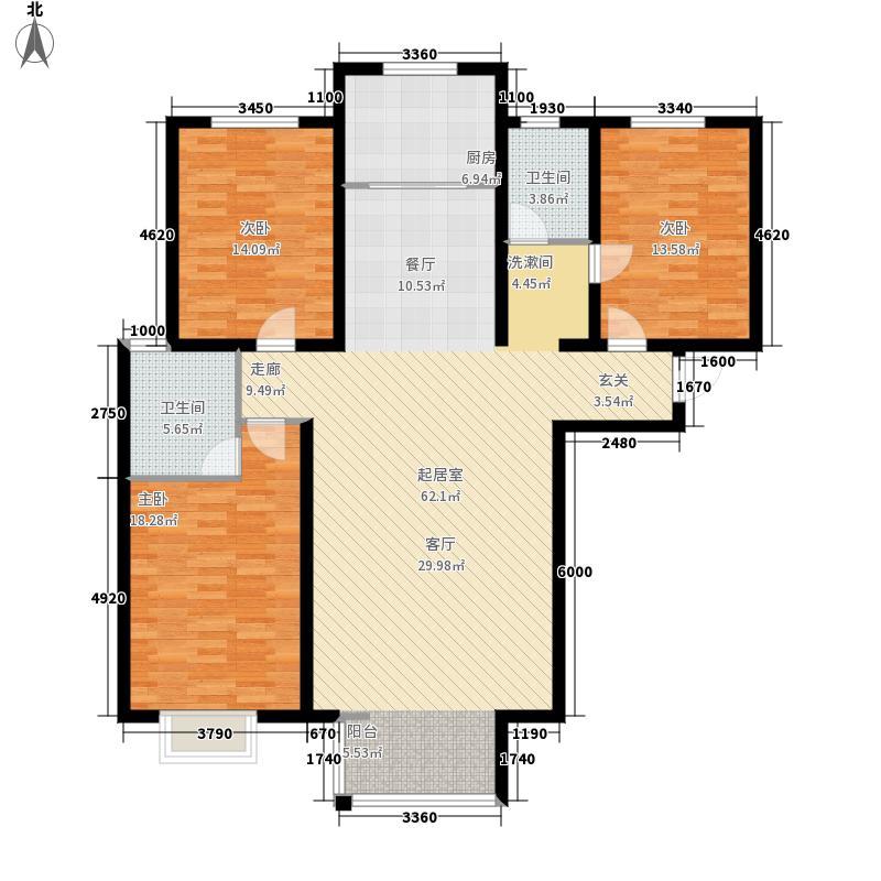 城南春天138.60㎡G户型2室2厅
