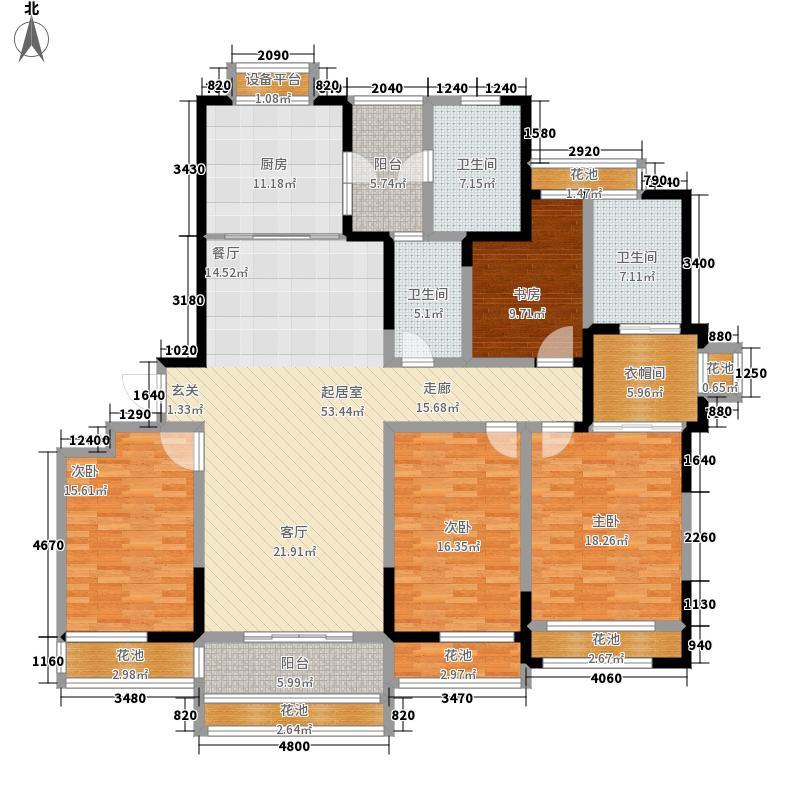 伴山伴岛204.47㎡B5-A1户型5室2厅