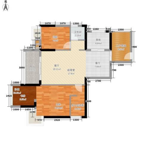 阳明佳城1室0厅1卫1厨83.00㎡户型图