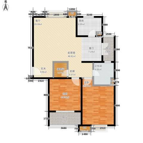 金色贝拉维2室0厅1卫1厨120.00㎡户型图