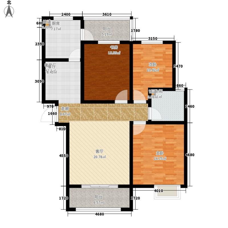 天朗美域117.00㎡a3-3户型3室2厅