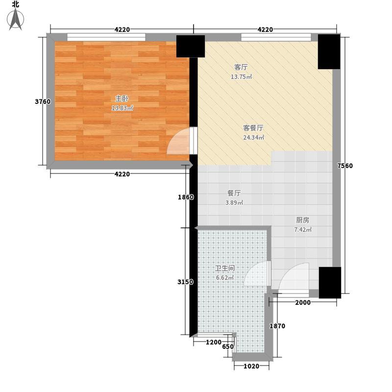 绿城千岛湖度假公寓109.00㎡6号楼中间套缇香C户型
