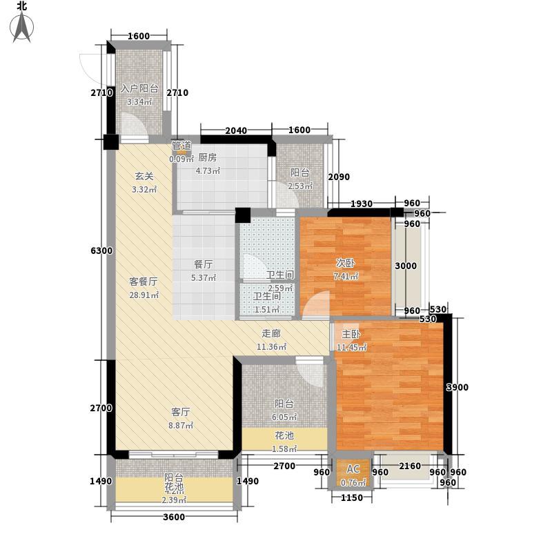 颐源居89.00㎡A-1栋01户型2室2厅