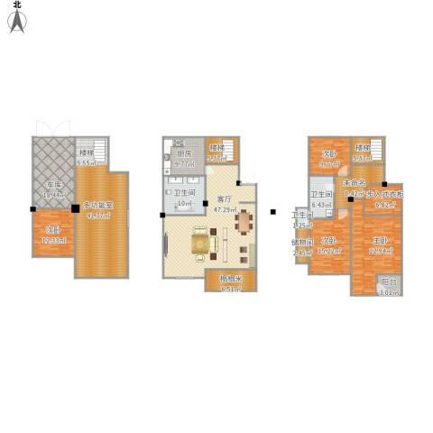 城南公馆4室1厅3卫1厨312.00㎡户型图