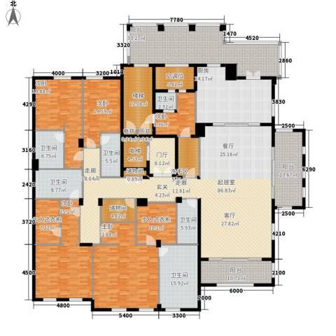 绿城玉兰花园・御园5室0厅6卫1厨389.00㎡户型图