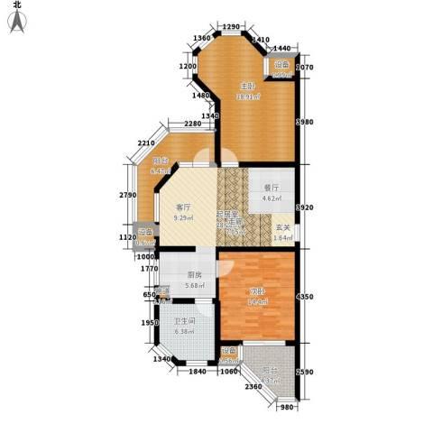 那香海国际旅游度假区2室0厅1卫0厨95.00㎡户型图