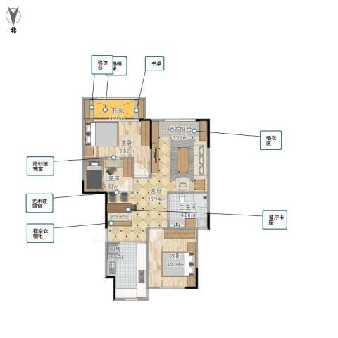 宝境檀香4室1厅1卫1厨91.00㎡户型图