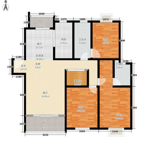 梅陇世纪苑3室0厅2卫1厨118.00㎡户型图