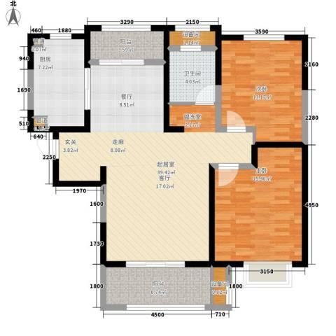 中星馨恒苑2室0厅1卫1厨107.00㎡户型图