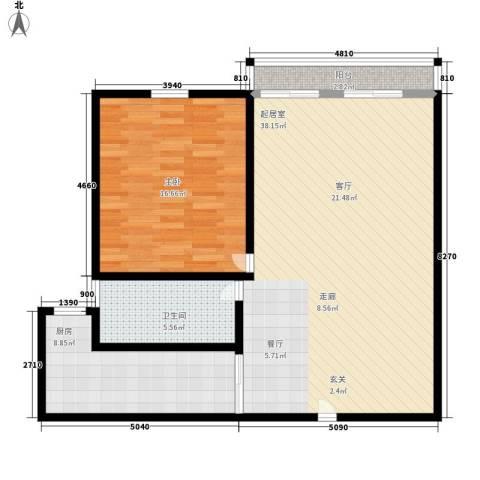 莱诗邸1室0厅1卫1厨80.00㎡户型图