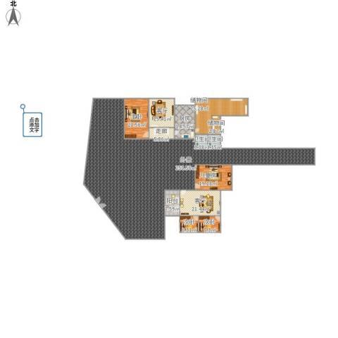 府河小区4室2厅2卫1厨526.00㎡户型图