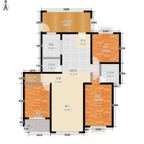 中邦城市3室0厅2卫1厨130.00㎡户型图