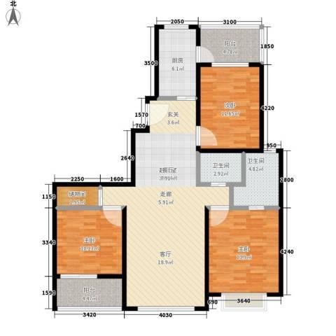 中邦城市3室0厅2卫1厨138.00㎡户型图