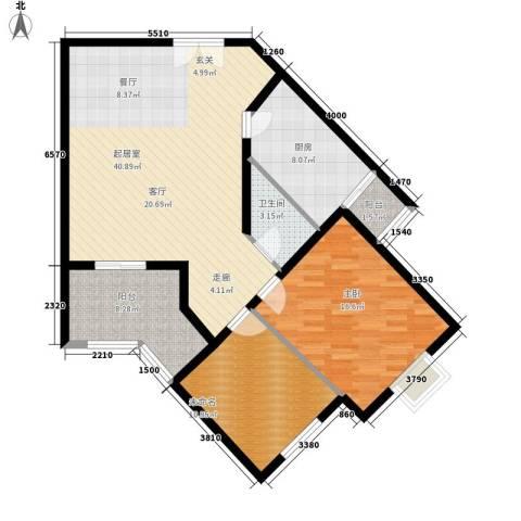 芙蓉新天地1室0厅1卫1厨121.00㎡户型图