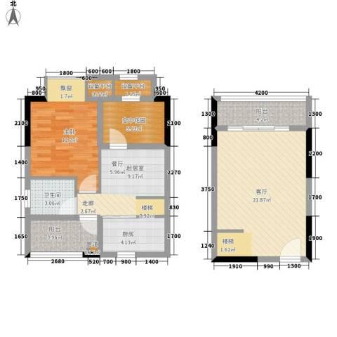 橡墅1室1厅1卫1厨129.00㎡户型图