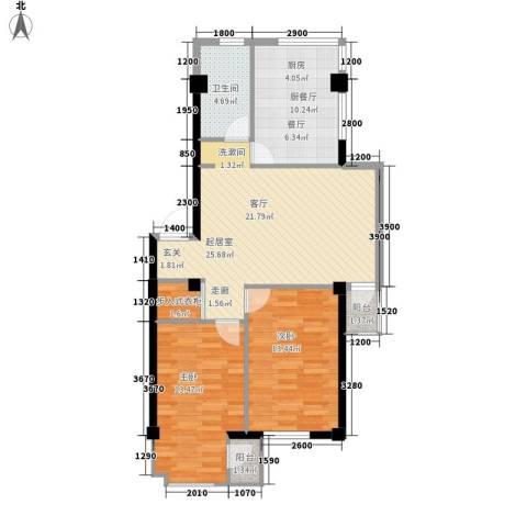 金地祥林书香苑2室0厅1卫0厨101.00㎡户型图