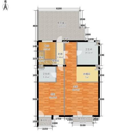 西山华府2室0厅2卫0厨169.00㎡户型图