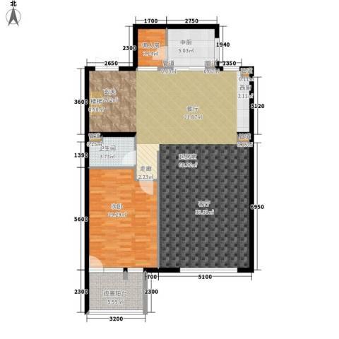 西山华府1室0厅1卫0厨146.00㎡户型图