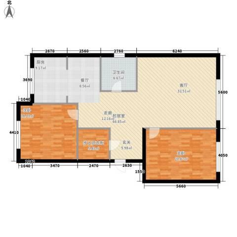 博奥国际2室0厅1卫0厨129.00㎡户型图