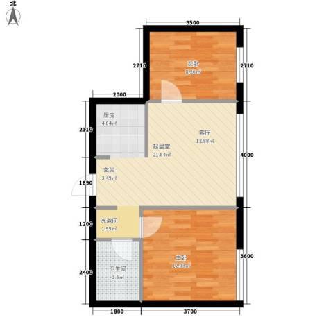 博奥国际2室0厅1卫0厨64.00㎡户型图
