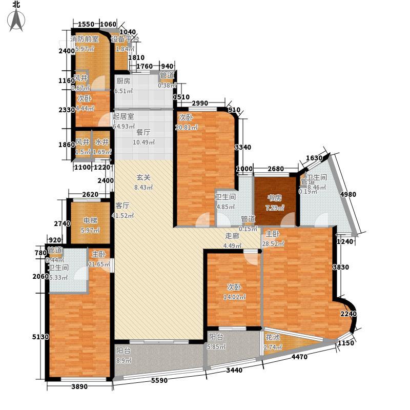 金都新蓝湾252.00㎡金都海尚国际4#楼A02户型5室2厅