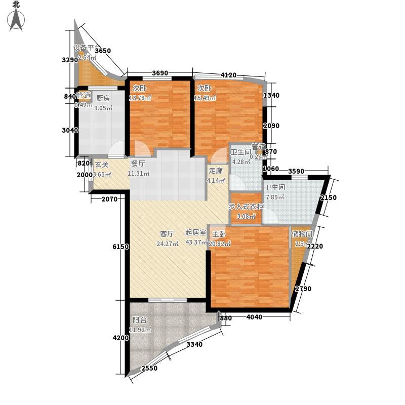 金都新蓝湾152.00㎡1、3#楼E、F户型3室2厅