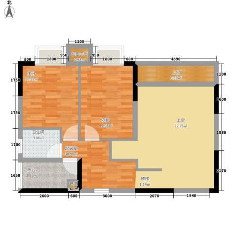 橡墅2室0厅1卫0厨129.00㎡户型图